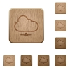 Cloud network wooden buttons - Set of carved wooden cloud network buttons in 8 variations.