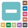 Flat remove icons - Flat remove icons on rounded square color backgrounds.