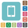 Flat blank smartphone icons - Flat blank smartphone icons on rounded square color backgrounds.