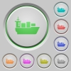 Sea transport push buttons - Set of color sea transport sunk push buttons.