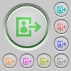 User logout push buttons - Set of color user logout sunk push buttons.