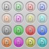Playlist plastic sunk buttons - Set of playlist plastic sunk spherical buttons.