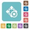 Flat cancel size icons - Flat cancel size icons on rounded square color backgrounds.