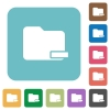 Flat remove folder icons - Flat remove folder icons on rounded square color backgrounds.