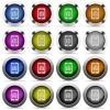 Mobile organizer glossy button set - Set of mobile organizer glossy web buttons. Arranged layer structure.