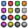 Web layout glossy button set - Set of web layout glossy web buttons. Arranged layer structure.