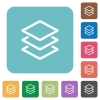 Flat layers icons - Flat layers icons on rounded square color backgrounds.