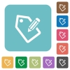 Flat tagging icons - Flat tagging icons on rounded square color backgrounds.