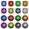 DOCX file format glossy button set - Set of DOCX file format glossy web buttons. Arranged layer structure.