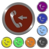 Color incoming call buttons - Set of color glossy coin-like incoming call buttons