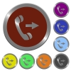 Color outgoing call buttons - Set of color glossy coin-like outgoing call buttons