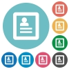 Flat user profile icons - Flat user profile icon set on round color background.