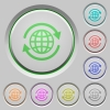 International push buttons - Set of color international sunk push buttons.