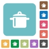 Flat cooking icons - Flat cooking icons on rounded square color backgrounds.