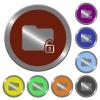 Color unlock folder buttons - Set of color glossy coin-like unlock folder buttons