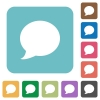 Flat Blog comment icons - Flat Blog comment icons on rounded square color backgrounds.