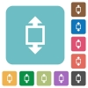 Flat height tool icons - Flat height tool icons on rounded square color backgrounds.
