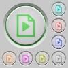 Playlist push buttons - Set of color playlist sunk push buttons.