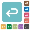 Flat back arrow icons - Flat back arrow icons on rounded square color backgrounds.
