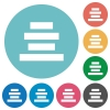 Flat Text align center icons - Flat Text align center icon set on round color background.