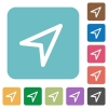 Flat direction arrow icons - Flat direction arrow icons on rounded square color backgrounds.