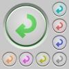 Return arrow push buttons - Set of color return arrow sunk push buttons.