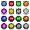 PCX file format glossy button set - Set of PCX file format glossy web buttons. Arranged layer structure.