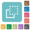 Flat bring to front icons - Flat bring to front icons on rounded square color backgrounds.