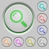 Magnifier push buttons - Set of color magnifier sunk push buttons.