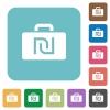 Flat Israeli new Shekel bag icons - Flat Israeli new Shekel bag icons on rounded square color backgrounds.