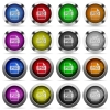 Set of PSD file format glossy web buttons. Arranged layer structure. - PSD file format glossy button set