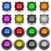 Horizontal flip glossy button set - Set of horizontal flip glossy web buttons. Arranged layer structure.