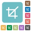 Flat crop tool icons - Flat crop tool icons on rounded square color backgrounds.