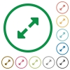 Resize full flat icons with outlines - Resize full flat color icons in round outlines