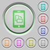 Change mobile screen orientation push buttons - Change mobile screen orientation color icons on sunk push buttons