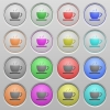 Coffee plastic sunk buttons - Coffee plastic sunk spherical push button set