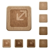 Resize window wooden buttons - Resize window icons in carved wooden button styles