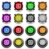 User profile glossy buttons - User profile color glass buttons in metal frames