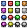 Application ok glossy buttons - Application ok color glass buttons in metal frames