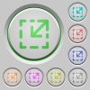 Resize element push buttons - Resize element color icons on sunk push buttons