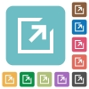 Export flat icons - Export flat icons on color rounded square backgrounds