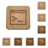 Command prompt wooden buttons - Command prompt icons in carved wooden button styles