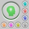 Idea push buttons - Idea color icons on sunk push buttons