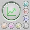 Line graph push buttons - Line graph color icons on sunk push buttons