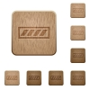 Progress bar wooden buttons - Progress bar icons in carved wooden button styles