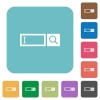 Search box flat icons - Search box white flat icons on color rounded square backgrounds