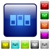 Switchboard color square buttons - Switchboard color glass rounded square button set