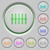 Graphical equalizer push buttons - Graphical equalizer color icons on sunk push buttons