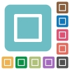Media stop flat icons - Media stop white flat icons on color rounded square backgrounds
