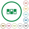 Switchboard flat color icons in round outlines - Switchboard flat icons with outlines